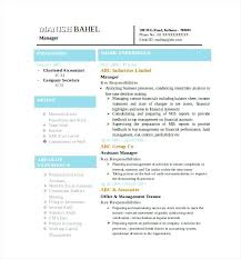 sample of a resume template latest chartered accountant resume word format  free download resume templates free