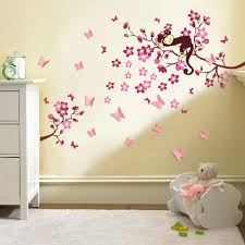 butterfly tree wall decals wall decals for nursery girl cherry blossom tree  monkey design baby nursery . butterfly tree wall decals ...