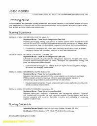 Nursing Resume Templates Word Best Of Nursing Student Resume