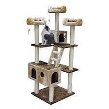 chic cat furniture. Chic Tall Cat Tree Scratching Post 73 Inch Kitty Tower Two Houses \u0026 3 Beds Furniture