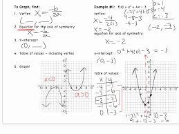 graphing quadratic equations in standard form worksheet hizl on solving algebra graphing e full