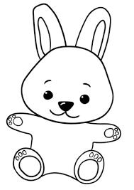 Disegno Di Coniglietto Carino Cartone Animato Da Colorare Disegni