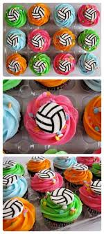 Cupcake Decorating Accessories Volleyball cupcakes Pinteres 70