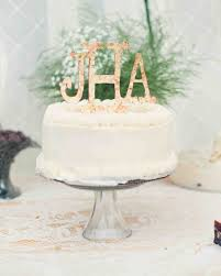 monogrammed wedding cakes. single-tiered white wedding cake with floral monogram topper monogrammed cakes r