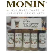 image is loading monin coffee syrup gift set 5x50ml bottles with