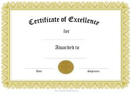 Certificate Of Excellence Template Word Extraordinary Free Editable Certificate Template Word 48 SearchExecutive