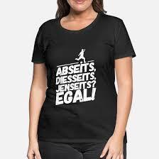 Fußball Lustige Coole Sprüche Abseits Frauen Premium T Shirt