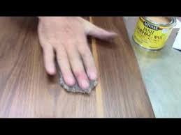 best way to refinish wood furniture in 60 minutes polished with wax and steel wool