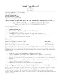 Sample Resume For Federal Government Job Jobs Sample Resume Cover