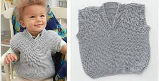 Free Knitted Vest Patterns Fascinating Dapper Baby's Play Knitted Vest [FREE Knitting Pattern]