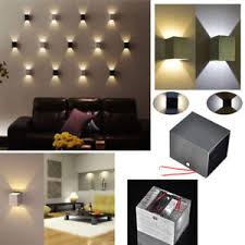 Lighting sconces for living room Leaf Wall Details About 3w Led Square Wall Lamp Hall Porch Walkway Living Room Light Fixture Wall Sconce Ebay 3w Led Square Wall Lamp Hall Porch Walkway Living Room Light Fixture