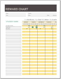 Reward Chart Template Reward Chart Templates For Ms Excel Word Excel Templates