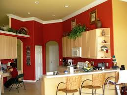 Red Kitchen Paint Colors With Oak Cabinets