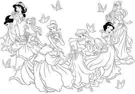 Le Principesse Disney Da Colorare Online Disegno