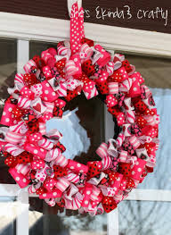 valentine wreaths for your front door9 Easy DIY Wreath Crafts For Valentines Day  Holidays  A Matter