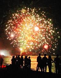 Independence Day Fireworks Orleans Cape Cod Massachusetts