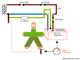 eec247 kevin s story animated circuit of a dangerous electrical fault condition