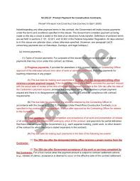 sample of contracts prompt payment for construction contracts 52 232 27 sample