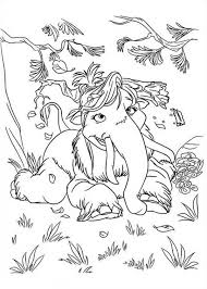 Small Picture Mannie and Ellie Daughter Peaches from Ice Age Coloring Pages