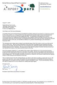 Letter In Support Of Upcoming Council Declaration Airport