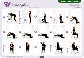 yoga with a chair complete set and office chair yoga