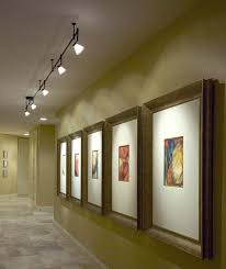 hallway track lighting. STRUCTURAL FIXTURE: TRACK The Track Lighting In This Museum Serves As Accent Order To Highlight Or Focus On Certain Pieces Of Art. Hallway :