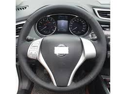 hand sewing black genuine leather steering wheel cover for 2016 2016 2016 2016 nissan altima