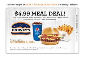 harvey s canada printable bogo 2 can dine meal deal until nov
