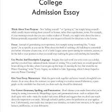 College Admission Essay Format Example Hatch Urbanskript