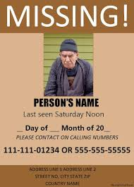 Missing Person Poster Template Beauteous Missing Person Poster Templates 48 Free Word PPT PDF