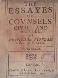john milton vs  francis bacon   sue brewton    s blogtitle page of the book  the essays or counsels  civil and moral  by