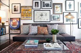 small living space with rugs