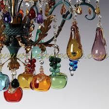 murano glass chandelier bacco