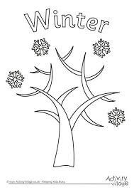 Small Picture Winter Tree Colouring Page