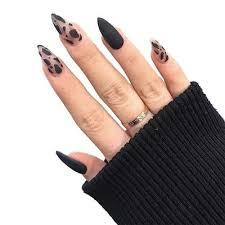 leopard false nails at affordable