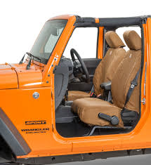 covercraft carhartt front seatsaver seat protector for 07 18 jeep wrangler jk quadratec