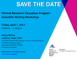 Scientific Writing Save The Date Scientific Writing Workshop Clinical