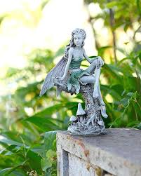 garden fairy figurines. Garden Fairy Ornaments Accessories Sitting Ornament In Grey Figurines Angel Statues Ebay