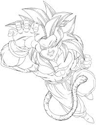 Small Picture How To Draw Dbz Goku Ssj4 Sketch Coloring Page Coloring Home