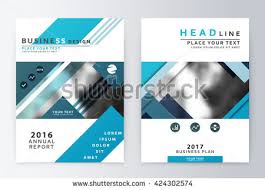 paper flyer annual report brochure business plan flyer stock vector 431711830