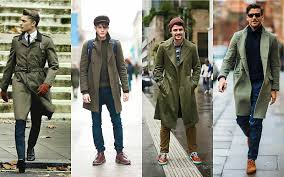 green trench coat