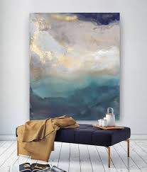 diy abstract canvas wall art best 25 blue painting ideas on