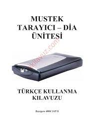 Mustek BEARPAW 4800 TAP II Scanner (Tarayıcı) - Kullanma Kılavuzu - Sayfa:1  - ekilavuz.com