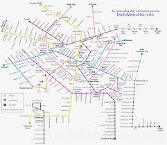Indian Railway Route Chart Delhi Metro Train Route Map