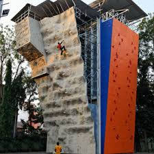 artificial climbing wall at raja shivaji this  on artificial rock climbing wall in mumbai with climbing walls in maharashtra mumbai pune lonavala