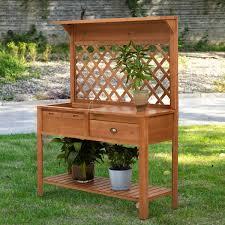 x 59 wooden garden potting table