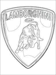 Lamborghini Kleurplaat Logo Lamborghini Kleurplaaten Autos