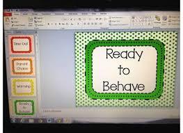Behavior Clip Chart Polka Dots Printable Behavior Management System For Children