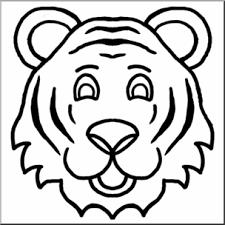 tiger face clipart black and white. Brilliant Black Clip Art Cartoon Animal Faces Tiger Bu0026W I Abcteachcom  Preview 1 Inside Face Clipart Black And White I