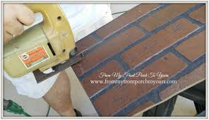Painting Fake Brick Paneling From My Front Porch To Yours Diy Faux Brick Wall Part 1